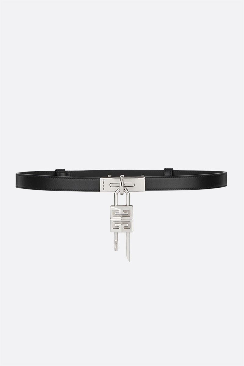 GIVENCHY: Turnlock smooth leather belt Color Black_1