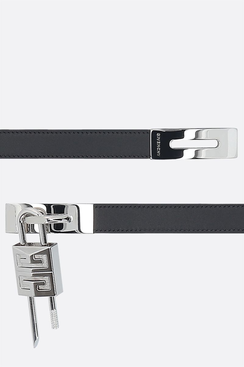 GIVENCHY: Turnlock smooth leather belt Color Black_2