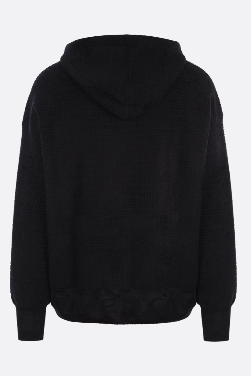 GIVENCHY: 4G jacquard knit hoodie Color Black_2