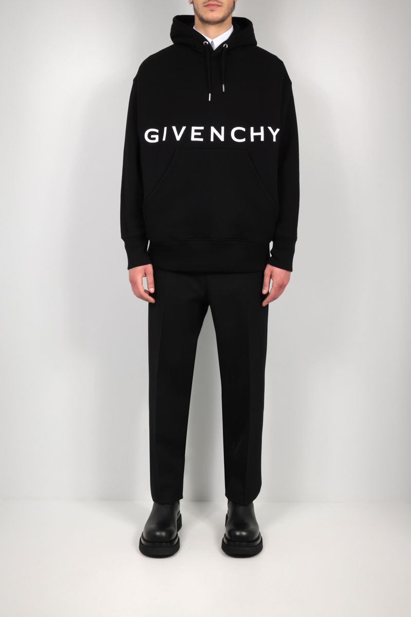 GIVENCHY: Givenchy 4G cotton hoodie Color Black_2