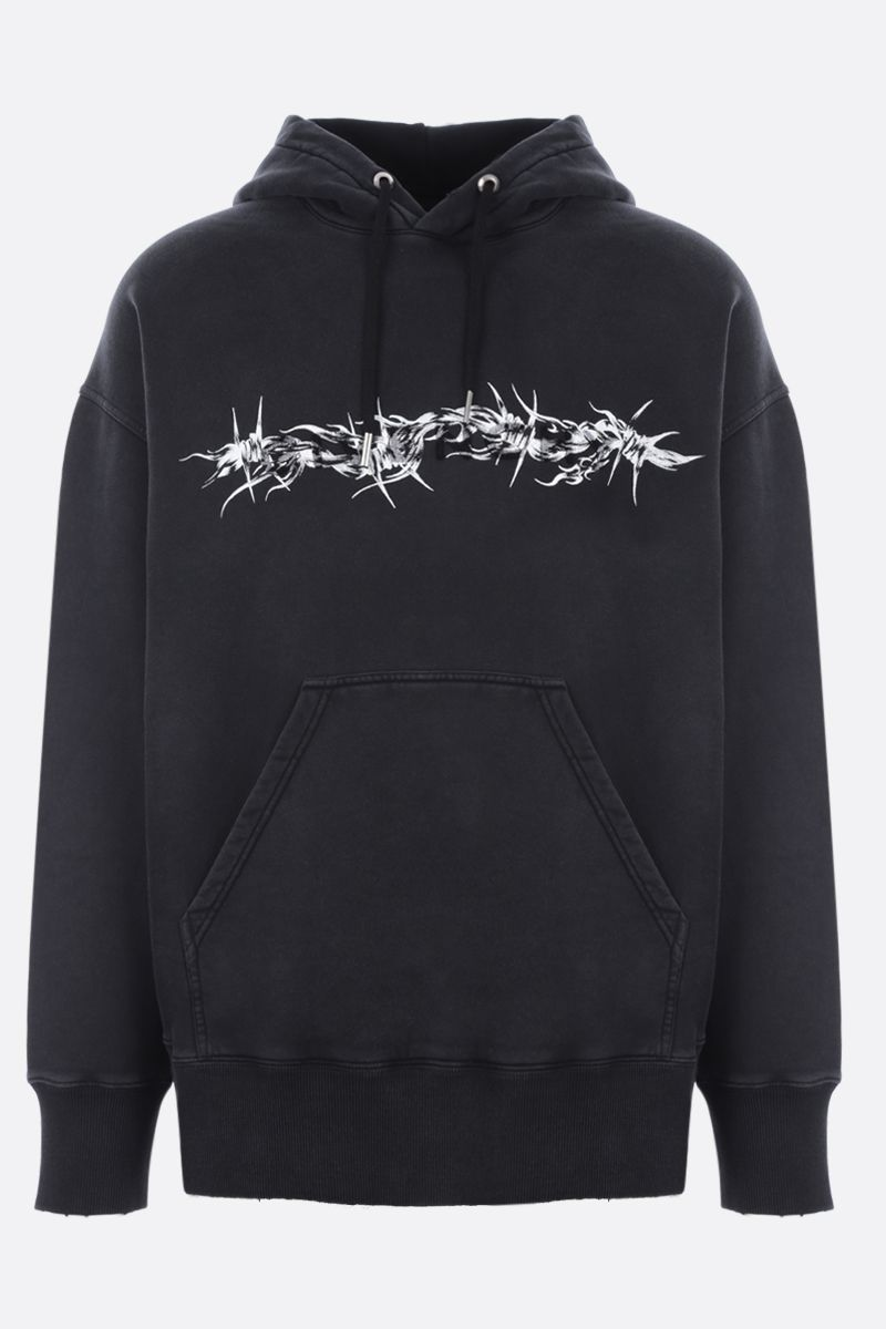 GIVENCHY: felpa oversize Givenchy Barbed Wire in cotone Colore Nero_1