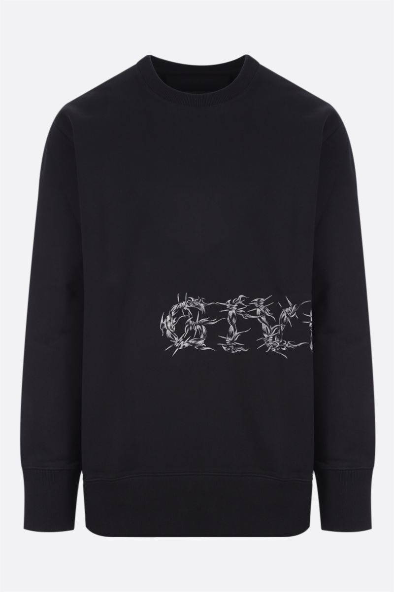 GIVENCHY: felpa Givenchy Barbed Wire in cotone Colore Nero_1