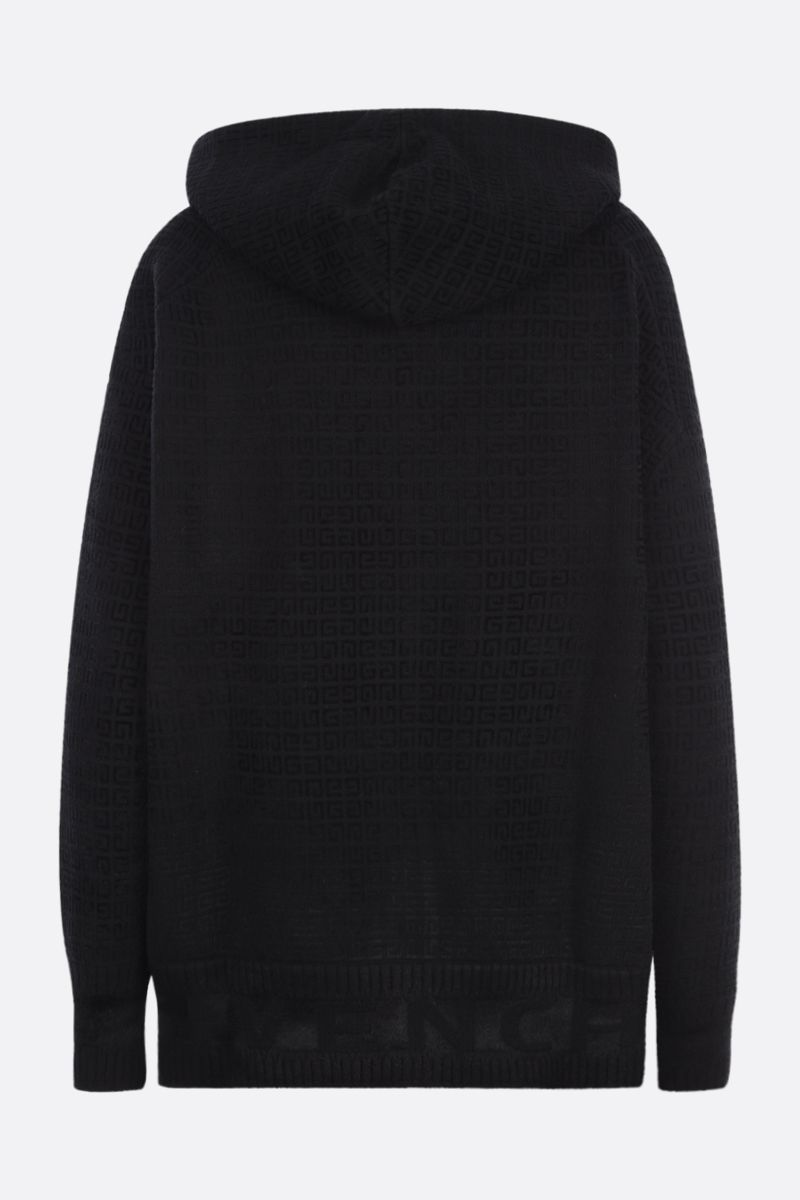 GIVENCHY: oversized 4G knit hoodie Color Black_2