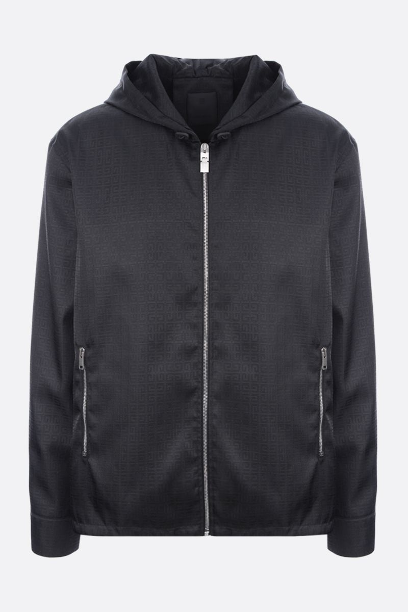 GIVENCHY: giacca a vento in jacquard 4G Colore Nero_1
