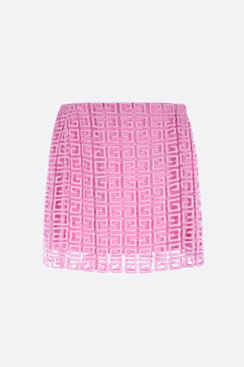 GIVENCHY: 4G guipure short skirt Color Pink_1