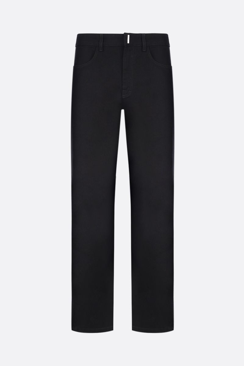 GIVENCHY: straight-leg jeans Color Black_1