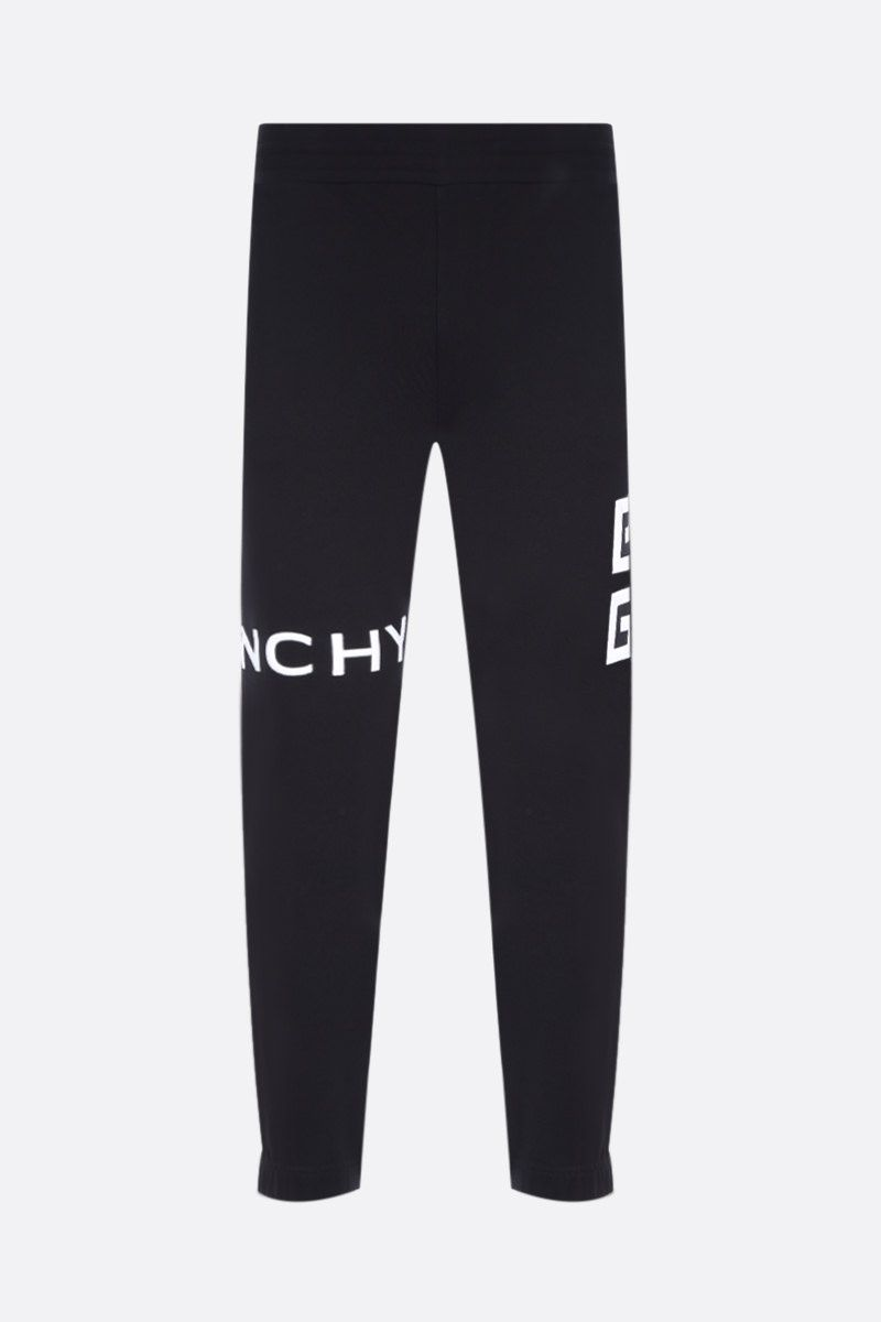 GIVENCHY: Givenchy 4G cotton joggers Color Black_1