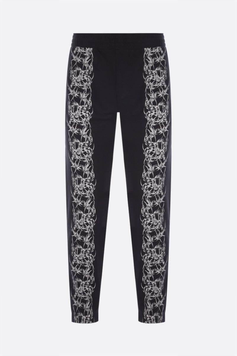 GIVENCHY: Barbed Wire cotton joggers Color Black_1
