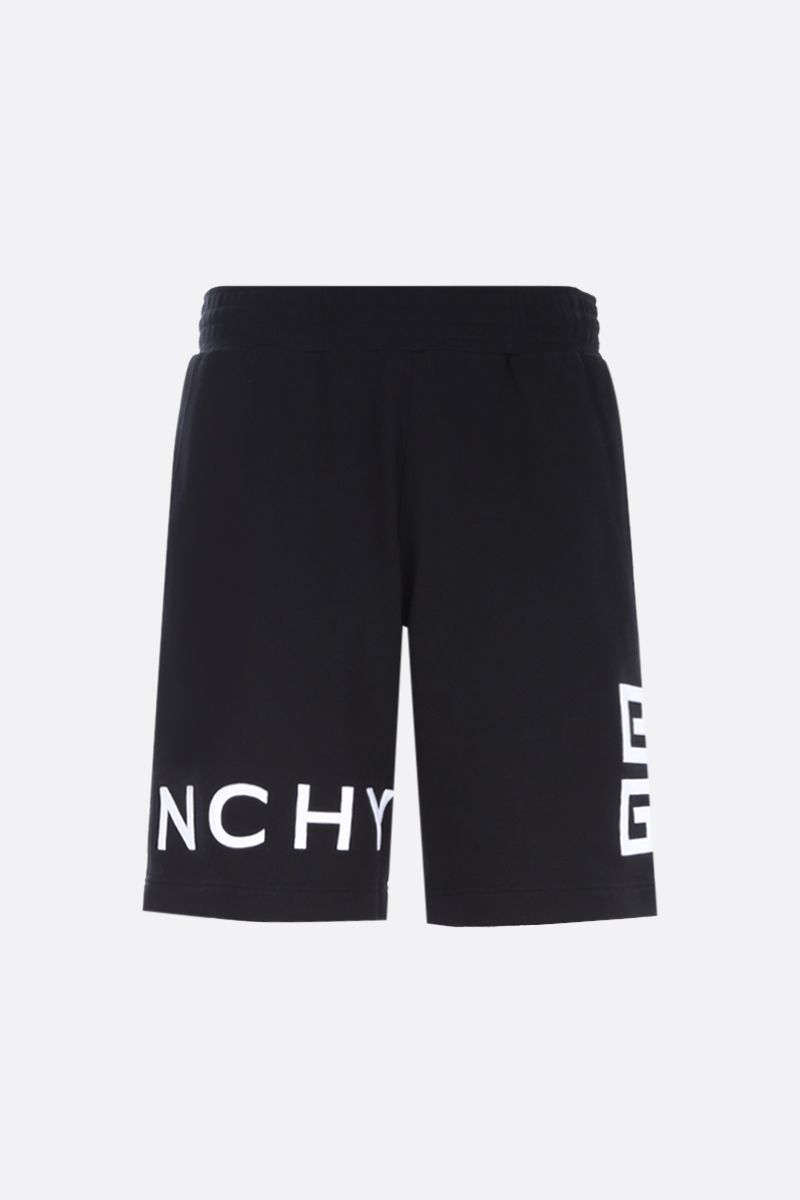 GIVENCHY: 4G embroidered cotton shorts Color Black_1