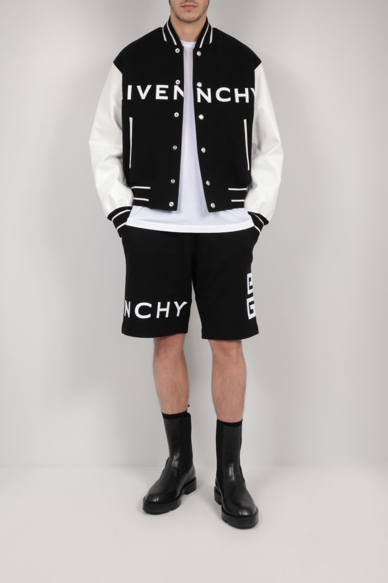 GIVENCHY: 4G embroidered cotton shorts Color Black_2