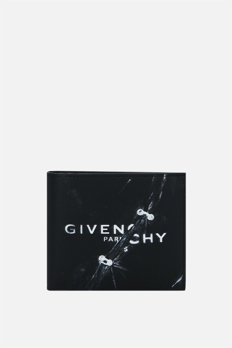 GIVENCHY: Givenchy Trompe l'œil smooth leather billfold wallet Color Black_1