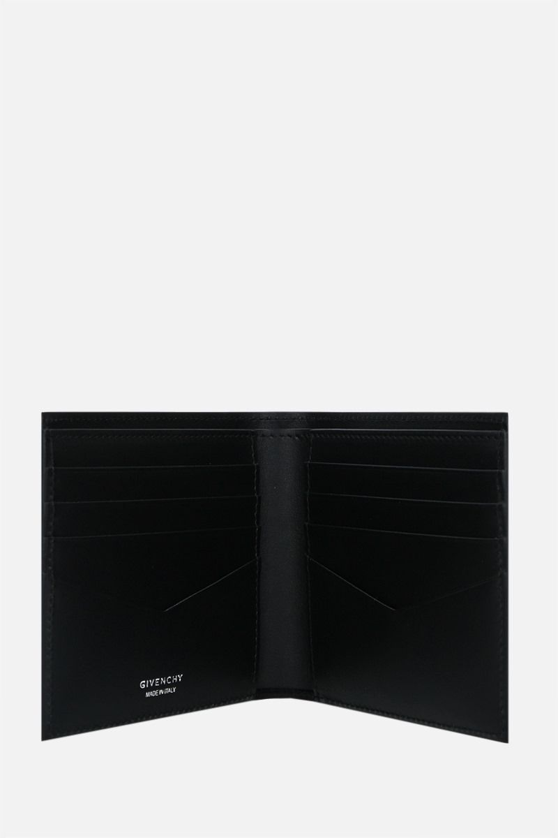 GIVENCHY: Givenchy Trompe l'œil smooth leather billfold wallet Color Black_2