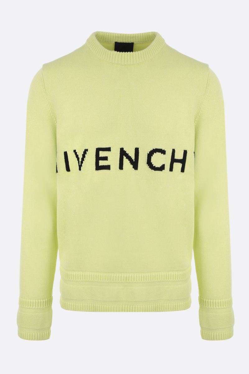 GIVENCHY: logo-detailed cotton pullover Color Yellow_1