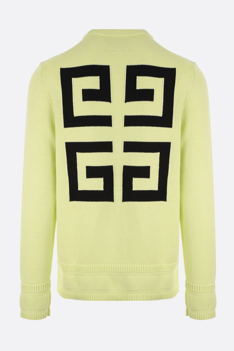 GIVENCHY: logo-detailed cotton pullover Color Yellow_2