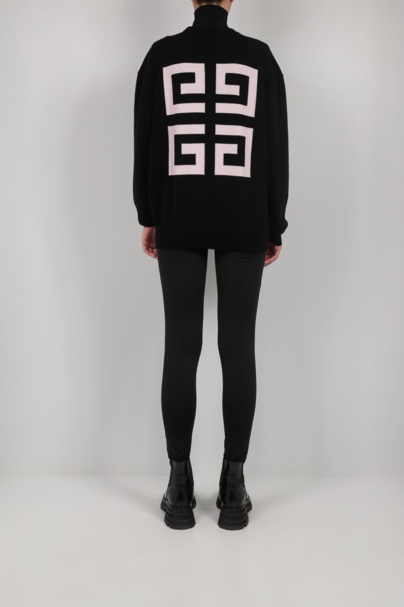 GIVENCHY: Givenchy 4G cashmere pullover Color Black_2