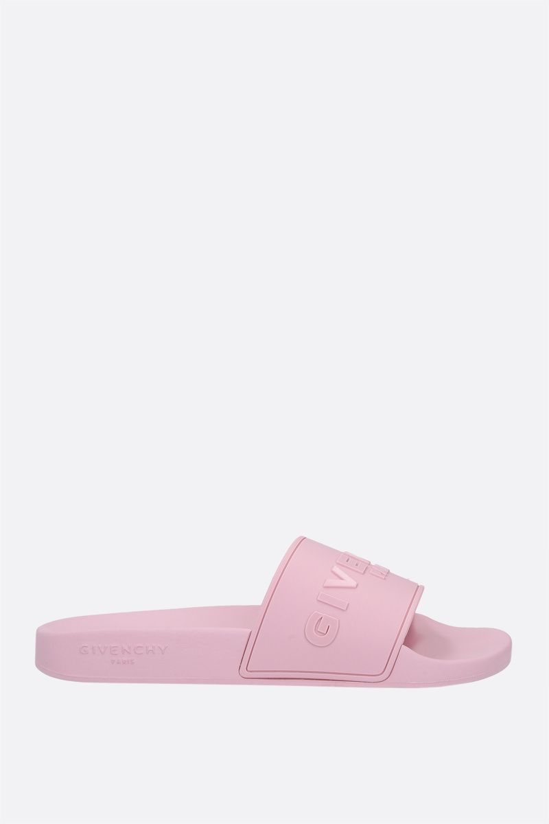 GIVENCHY: sandalo slide Givenchy Paris in gomma Colore Rosa_1
