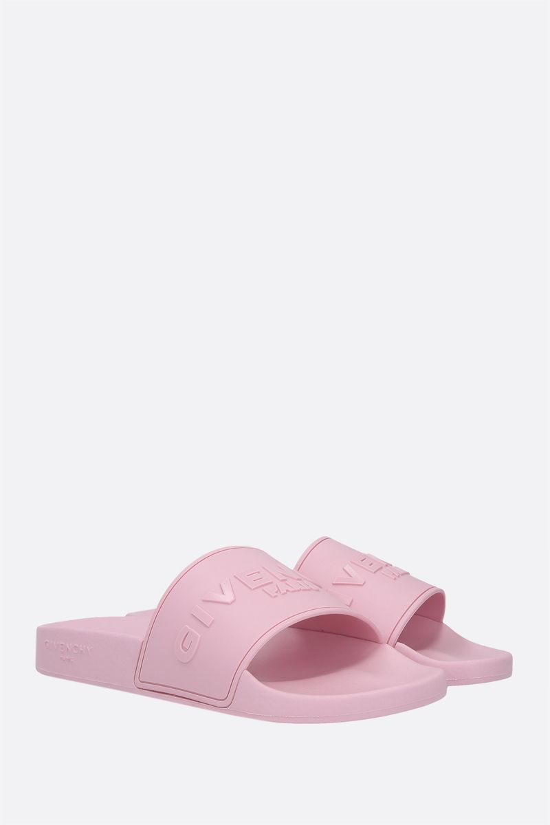 GIVENCHY: sandalo slide Givenchy Paris in gomma Colore Rosa_2