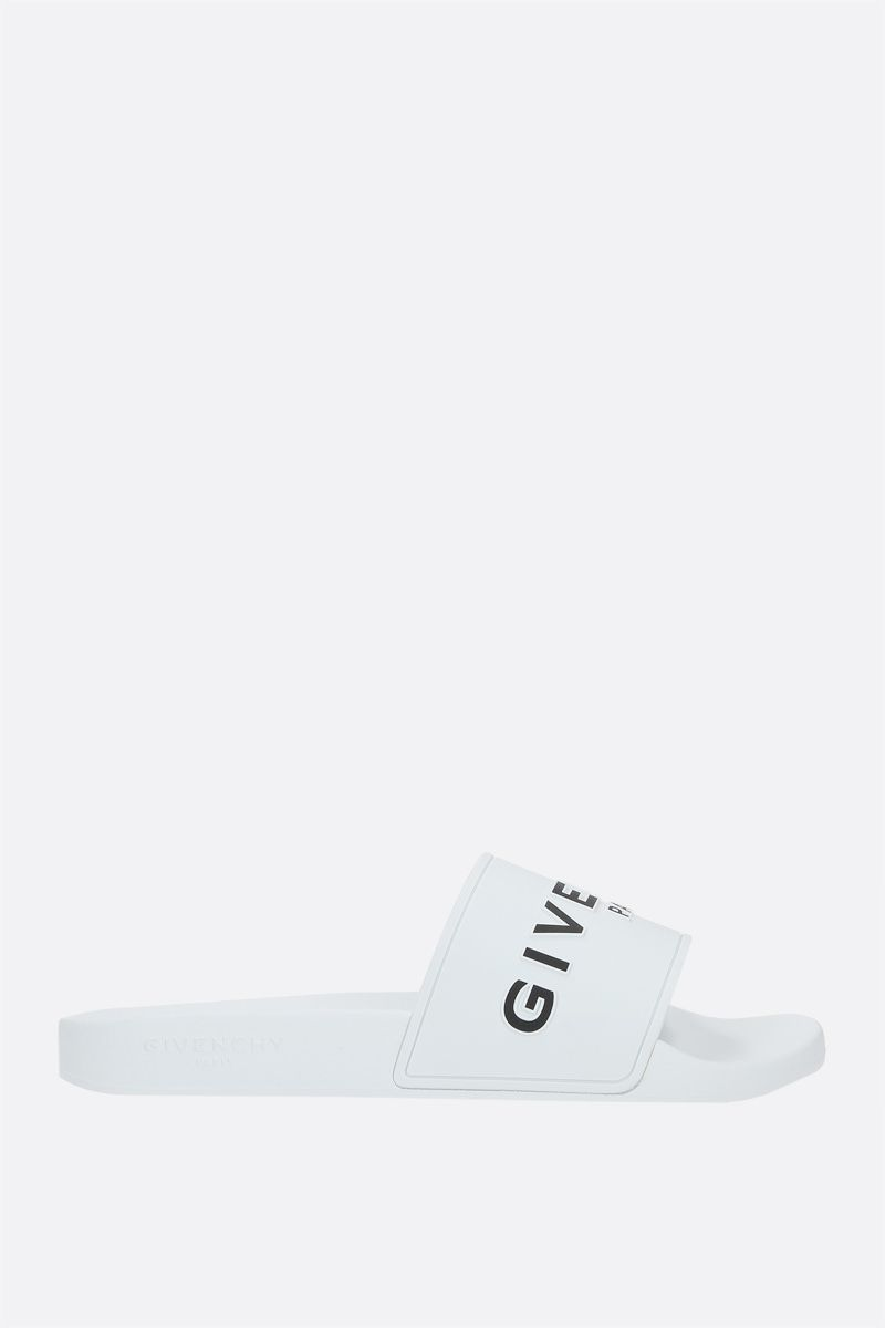 GIVENCHY: sandalo slide Givenchy in gomma Colore Bianco_1