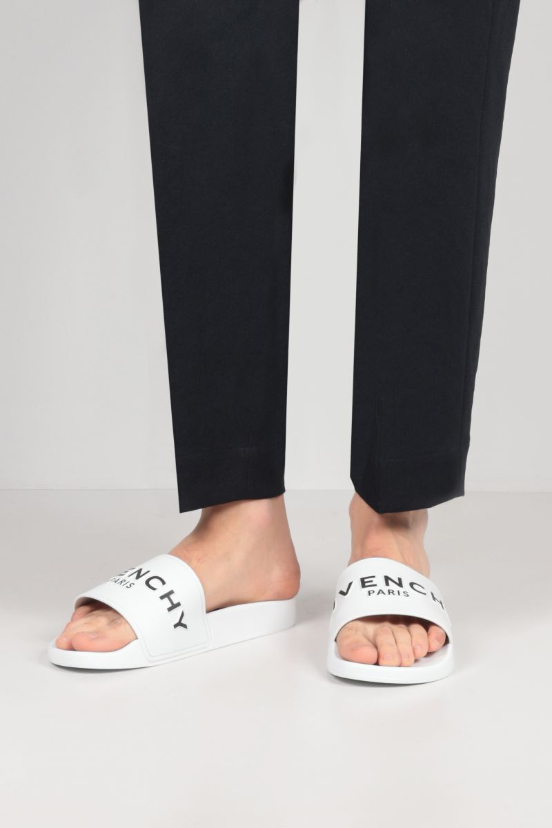 GIVENCHY: sandalo slide Givenchy in gomma Colore Bianco_2