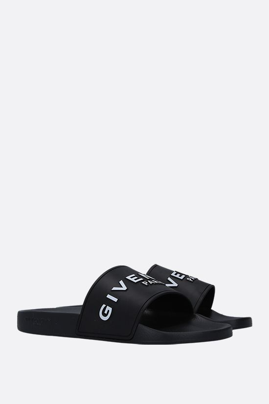 GIVENCHY: sandalo slide Givenchy in gomma Colore Nero_2
