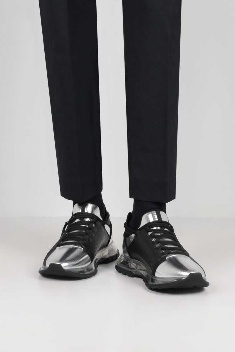 GIVENCHY: Spectre ripstop nylon sneakers Color Silver_2