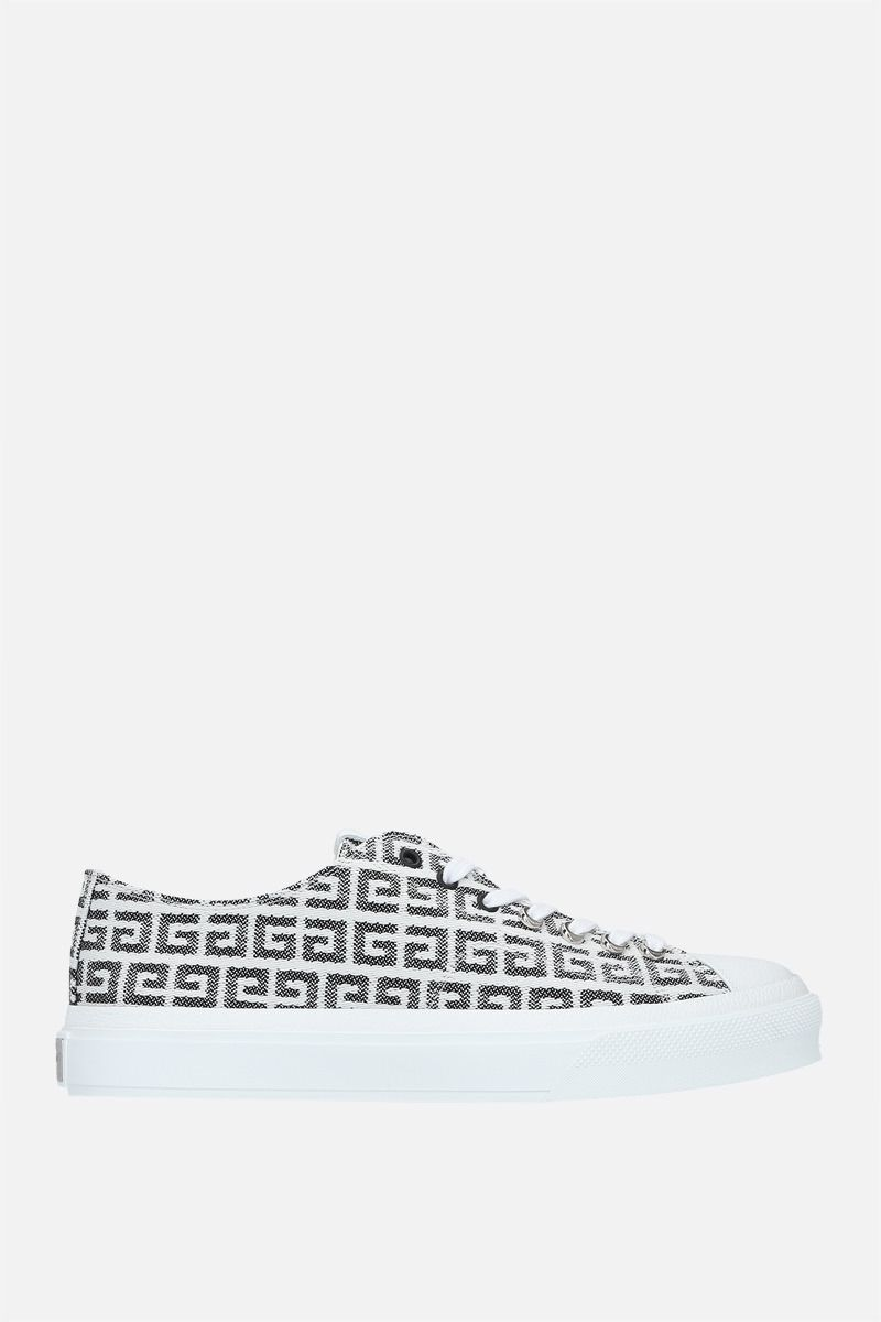GIVENCHY: City sneakers in 4G jacquard Color Black_1
