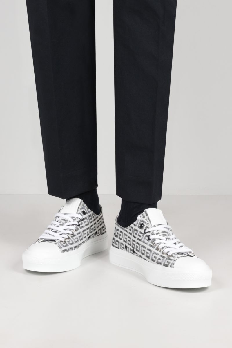 GIVENCHY: City sneakers in 4G jacquard Color Black_2