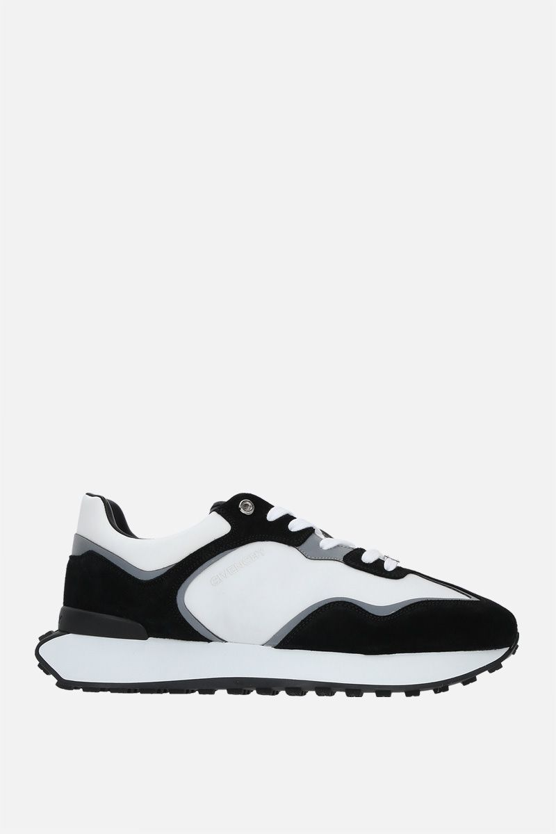 GIVENCHY: Giv Runner suede and nylon sneakers Color Black_1
