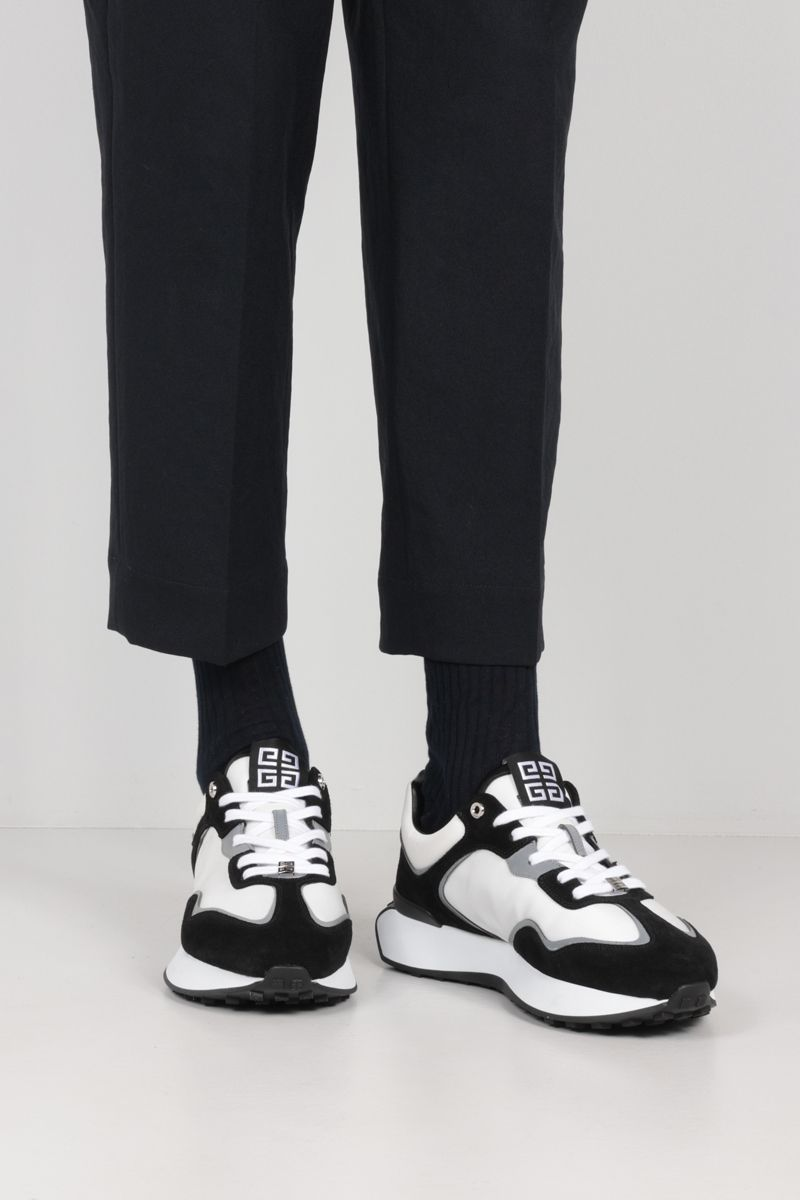 GIVENCHY: Giv Runner suede and nylon sneakers Color Black_2