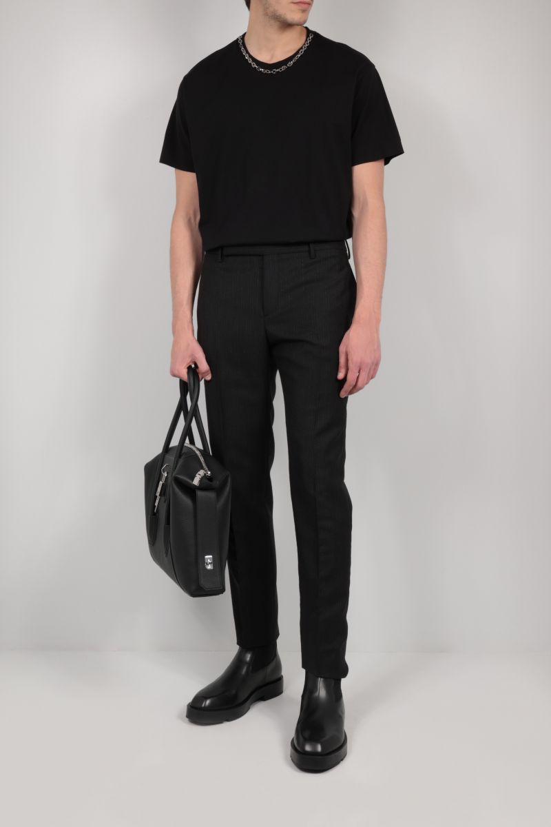 GIVENCHY: G link chain-detailed cotton t-shirt Color Black_2