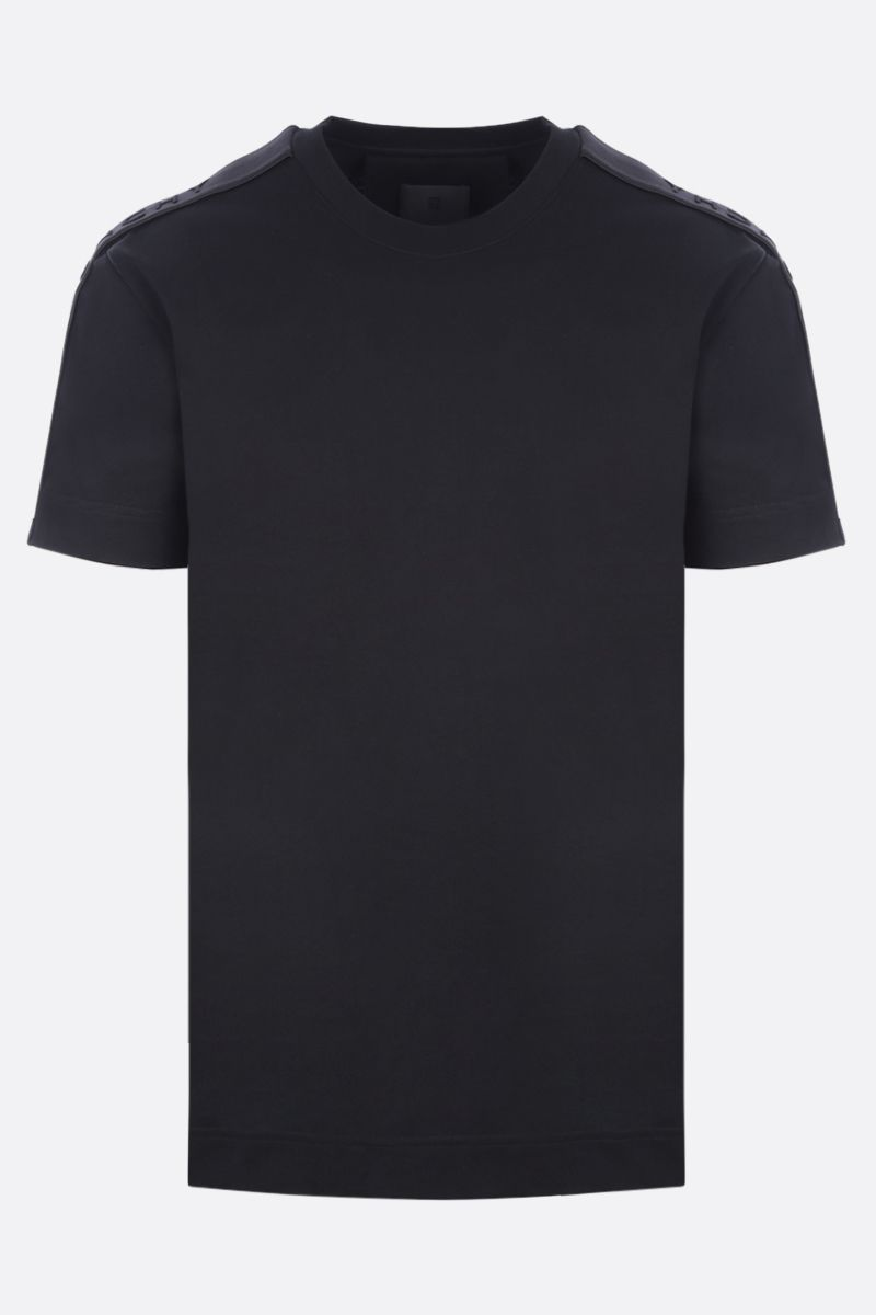 GIVENCHY: logoed bands-detailed cotton t-shirt Color Black_1