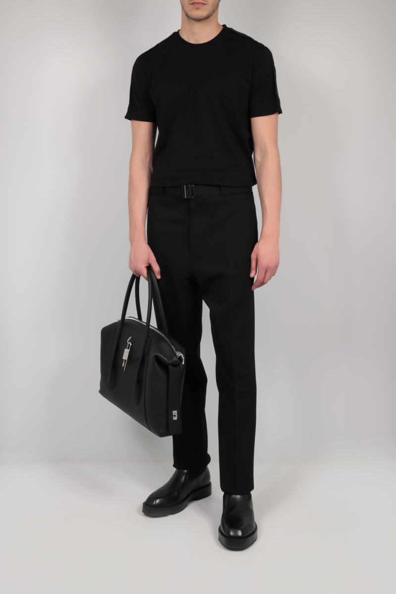 GIVENCHY: logoed bands-detailed cotton t-shirt Color Black_2