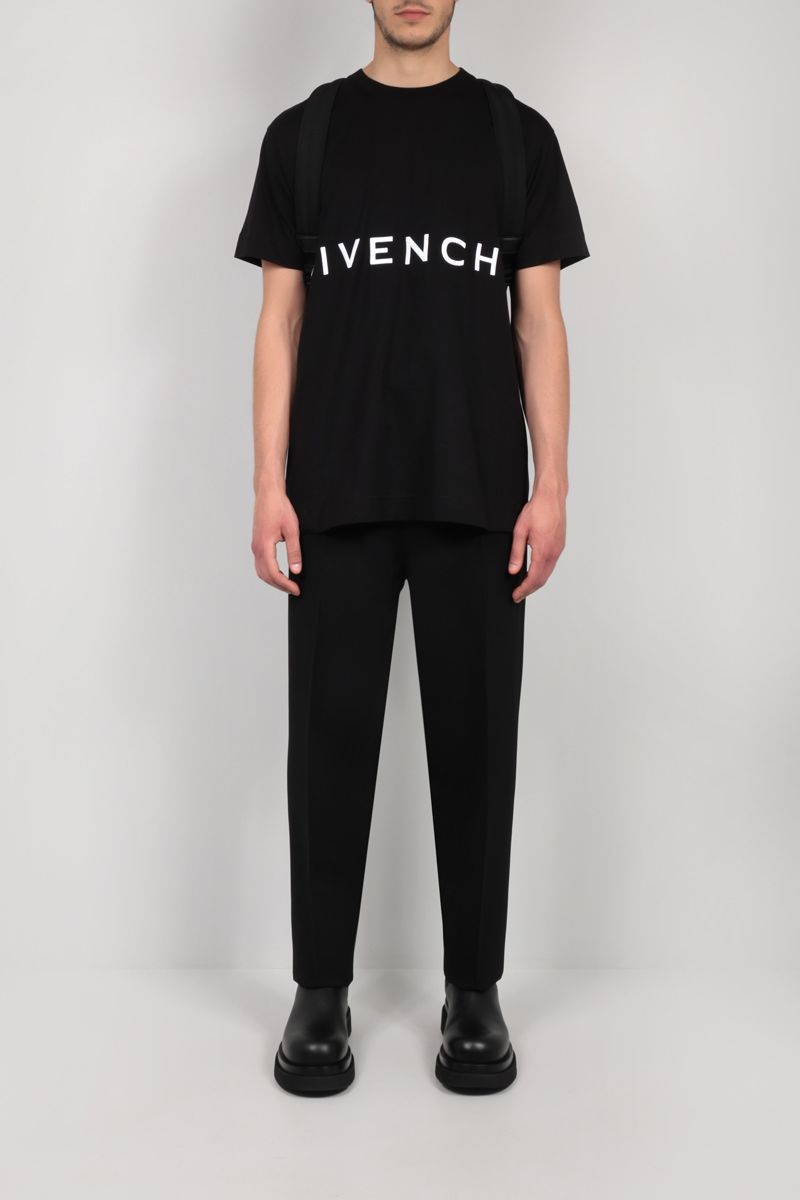 GIVENCHY: Givenchy 4G oversize cotton t-shirt Color Black_2