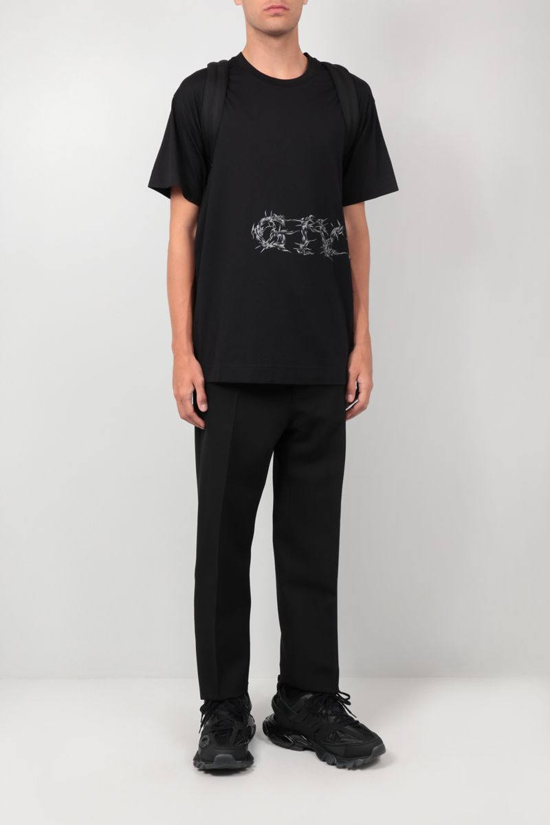 GIVENCHY: t-shirt oversize Givenchy Barbed Wire in cotone Colore Nero_2
