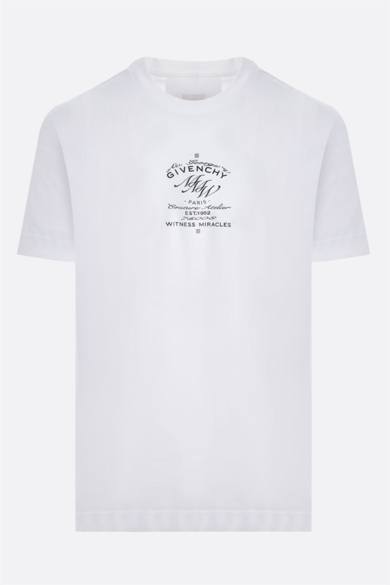 GIVENCHY: t-shirt Givenchy MMW in cotone Colore Bianco_1