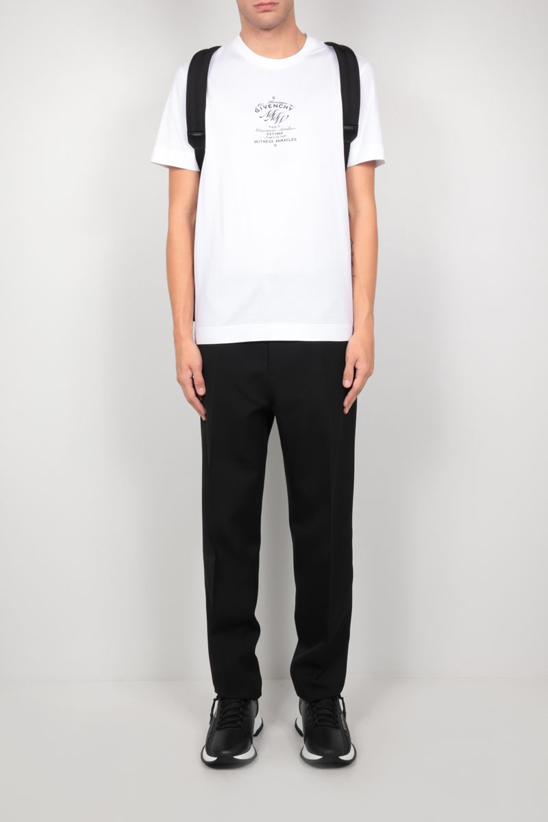 GIVENCHY: t-shirt Givenchy MMW in cotone Colore Bianco_2