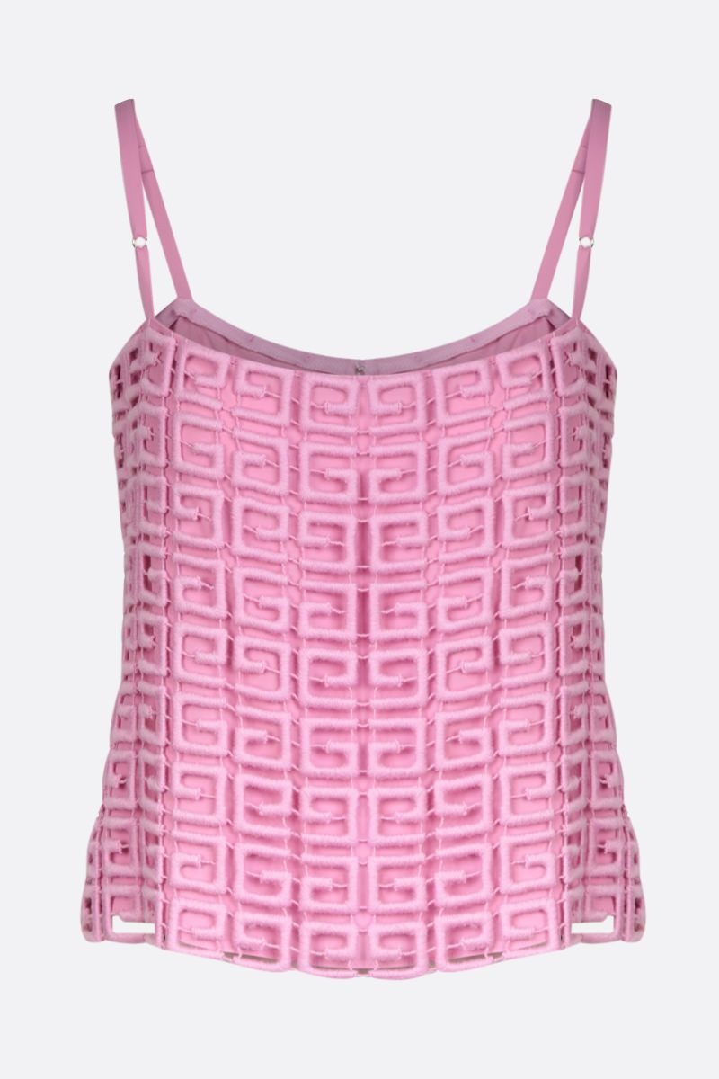 GIVENCHY: 4G guipure top Color Pink_1