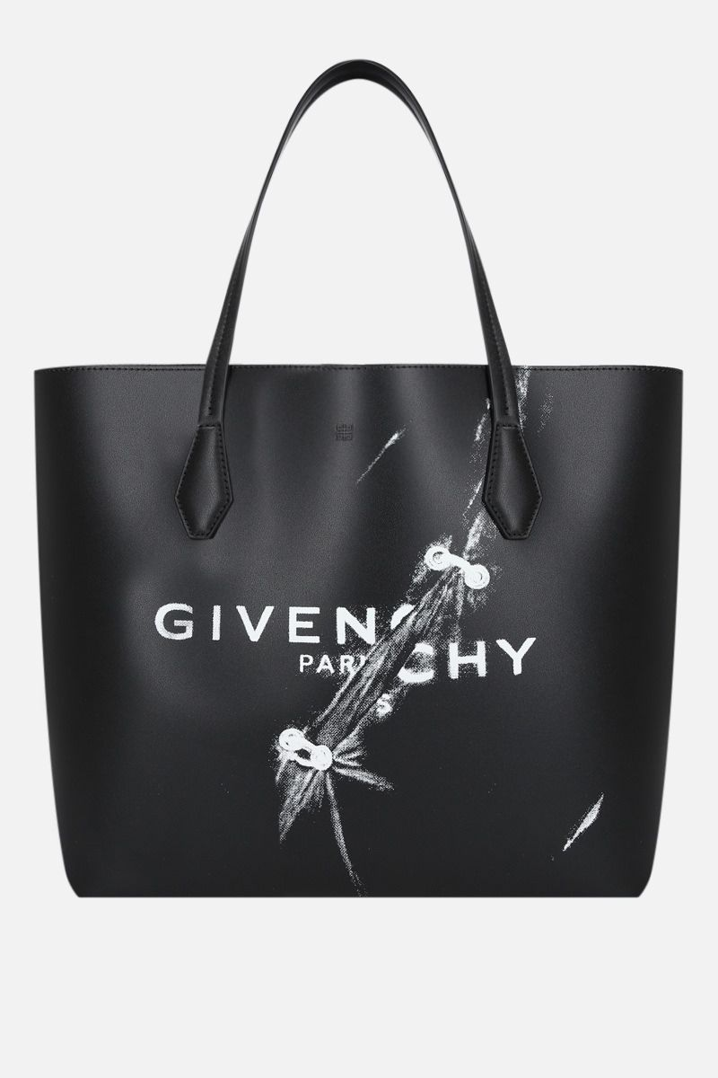 GIVENCHY: Wing smooth leather shopping bag Color Black_1