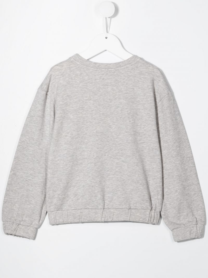 GIVENCHY KIDS: logo-detailed stretch cotton sweatshirt Color Grey_2