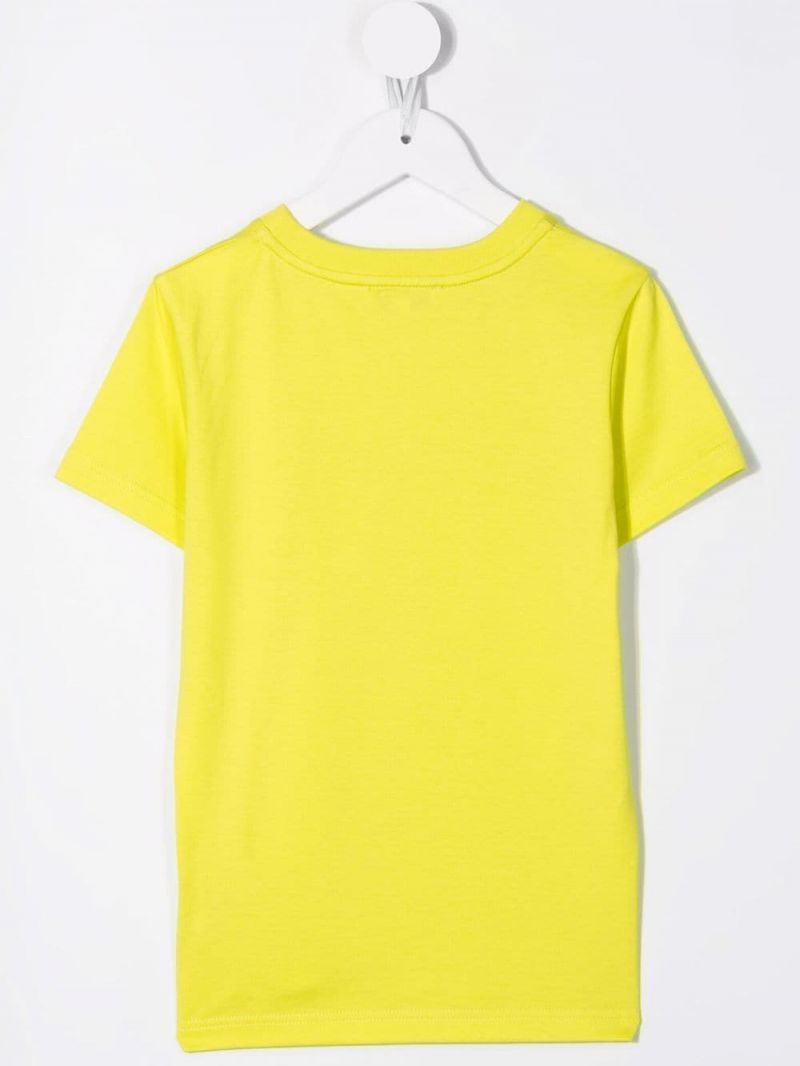 GIVENCHY KIDS: t-shirt in cotone stampa logo Colore Verde_2