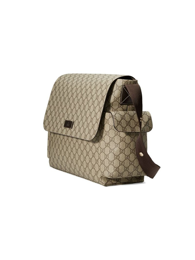 GUCCI CHILDREN: GG Supreme coated canvas changing bag Color Neutral_2