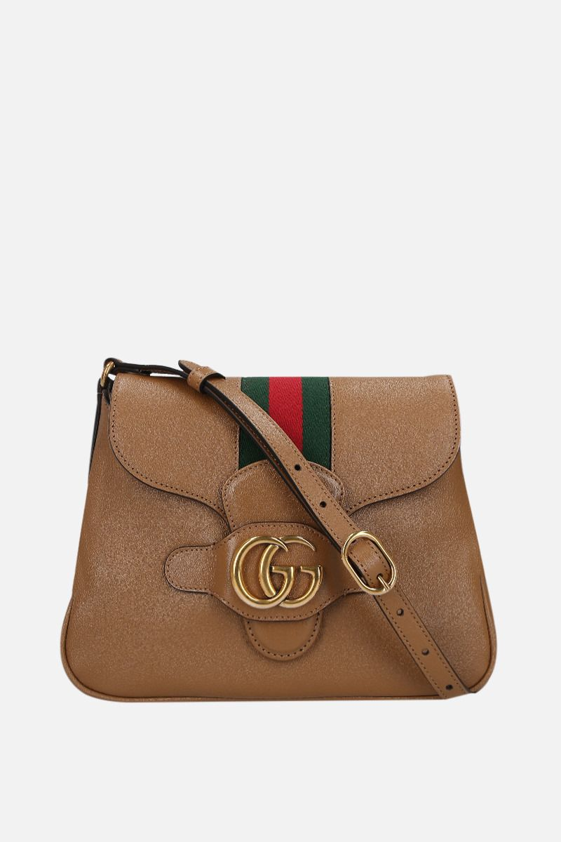 GUCCI: Dahlia small smooth leather shoulder bag Color Neutral_1