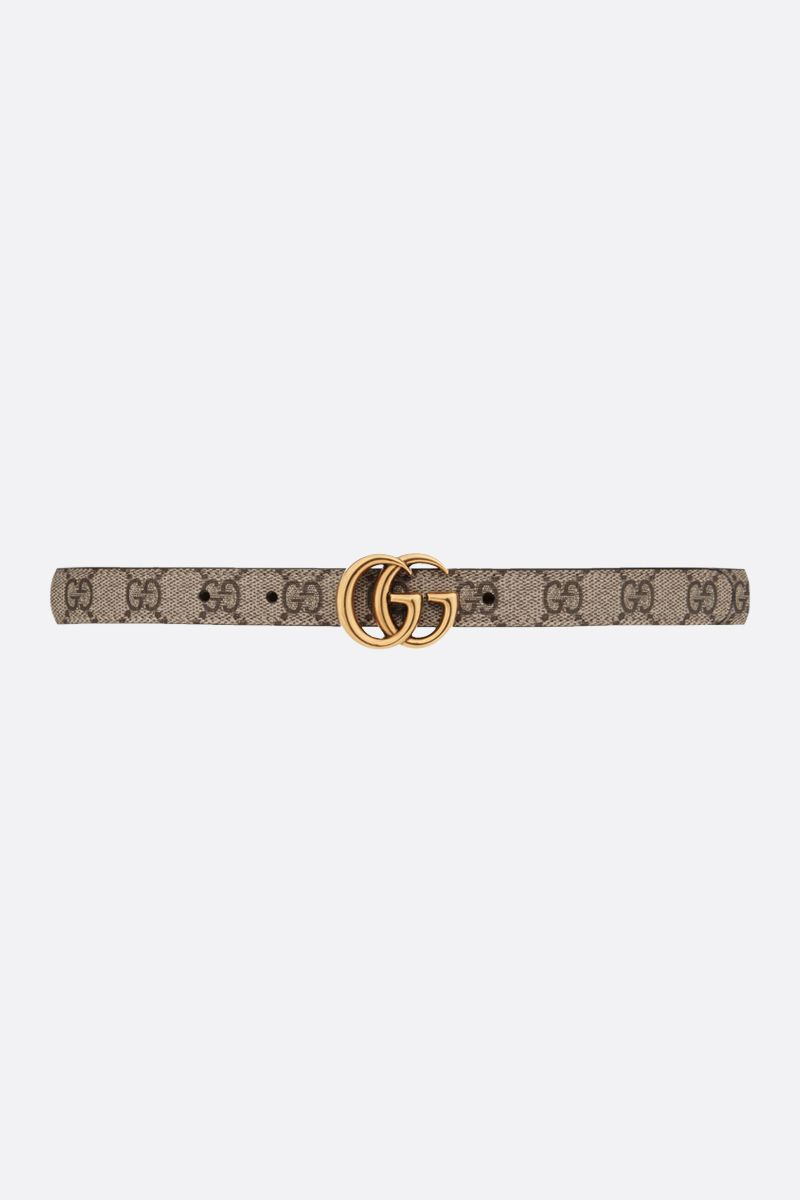 GUCCI: GG Marmont reversible thin belt Color Brown_1