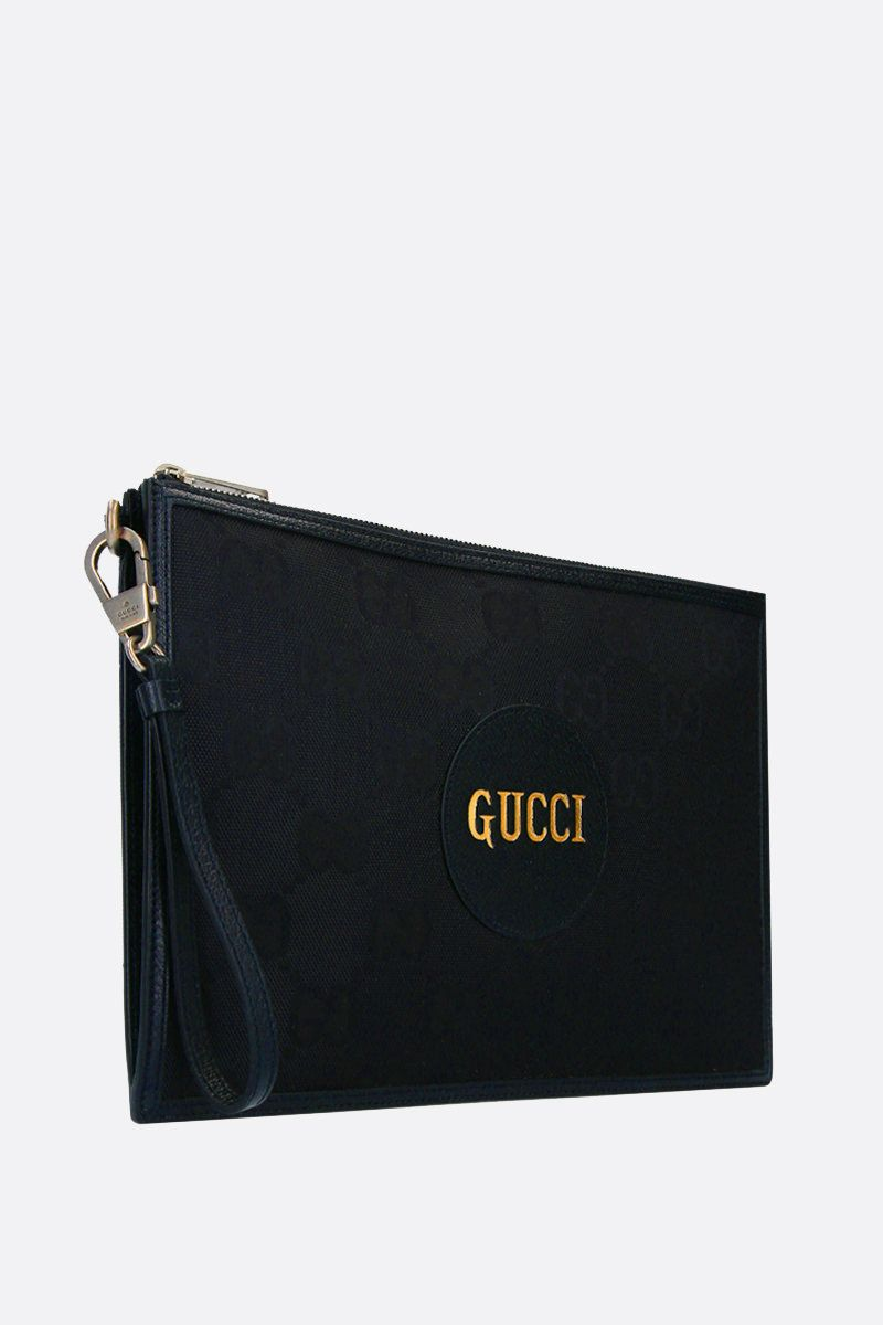 GUCCI: Gucci of the Grid pouch in ECONYL® Color Black_2