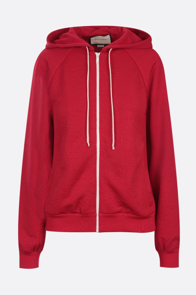 GUCCI: GG jacquard jersey sweatshirt Color Red_1