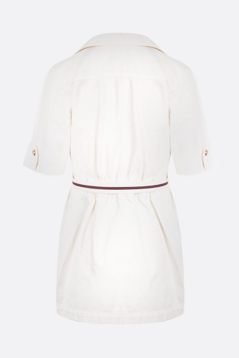 GUCCI: short-sleeved full-zip cotton jacket Color White_2