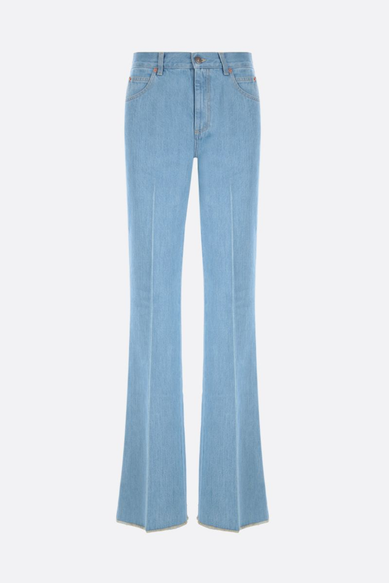 GUCCI: flared jeans Color Blue_1
