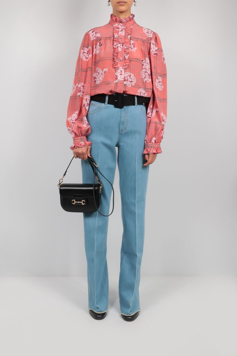 GUCCI: flared jeans Color Blue_2