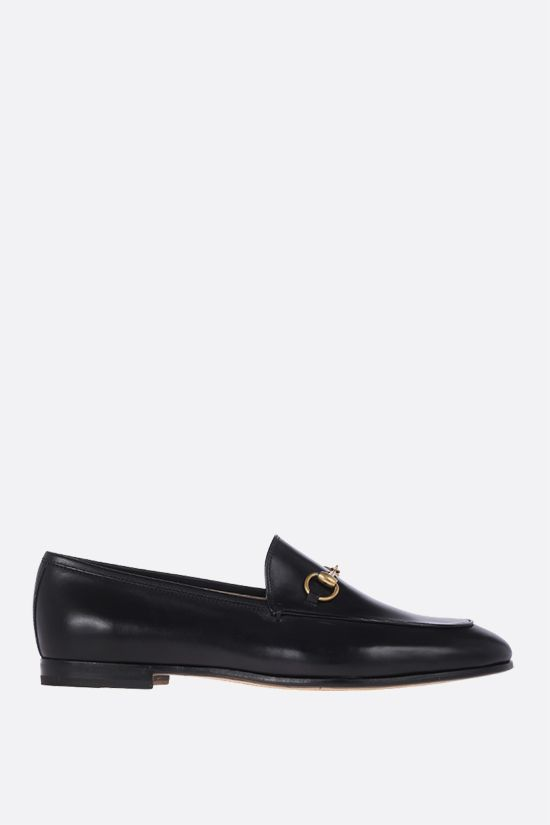 GUCCI: Jordaan smooth leather loafers Color Black_1