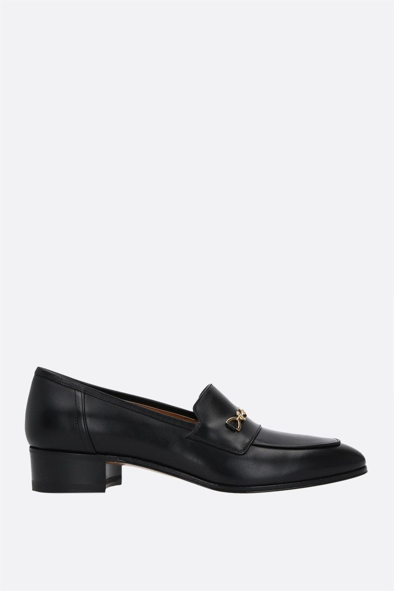 GUCCI: Interlocking G Horsebit-detailed smooth leather loafers Color Black_1